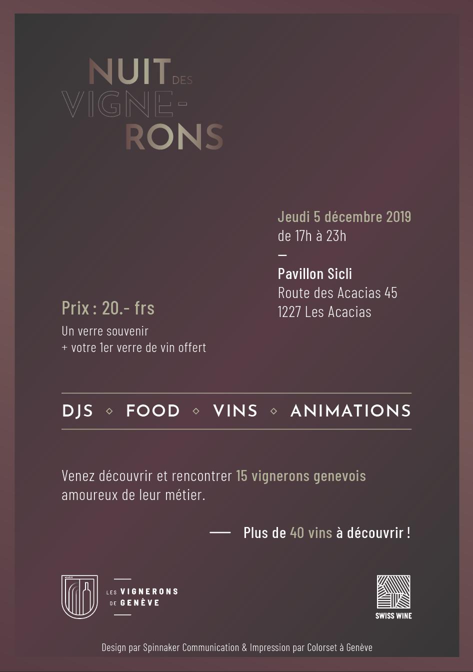 Flyer Nuit des Vignerons - Verso